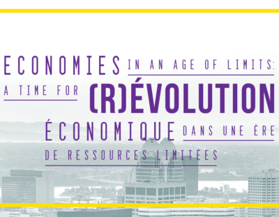 Economies in an age of limits: A time for (R)evolution!